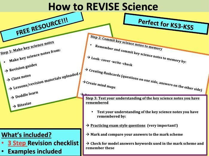 How To Revise For Science
