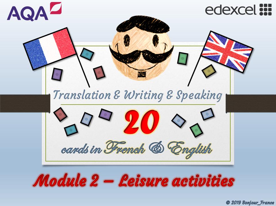 GCSE French - Q&A / Translation Card Set (Module 2: Sport & Leisure)