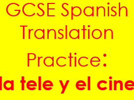Spanish TV & cinema translation: sentences & complex structures on la tele y el cine & answers