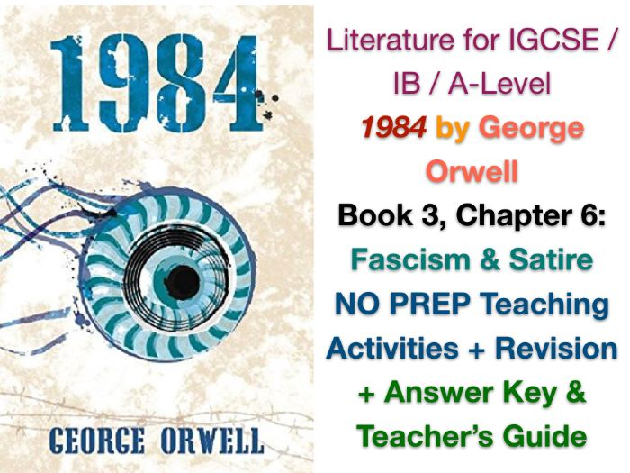 George Orwell - 1984 - Book 3, Ch. 6: He Loved Big Brother (IGCSE EXAM PREP + ANSWERS)