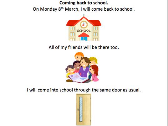 Returning to school Social Story editable