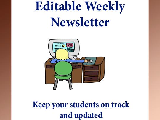 Editable Weekly Newsletters Template