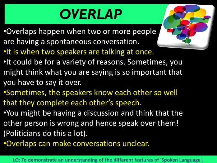 English Language - Spoken Language Terminology