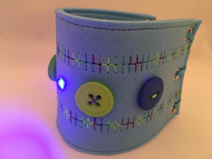 E-textiles LED Fabric Cuff