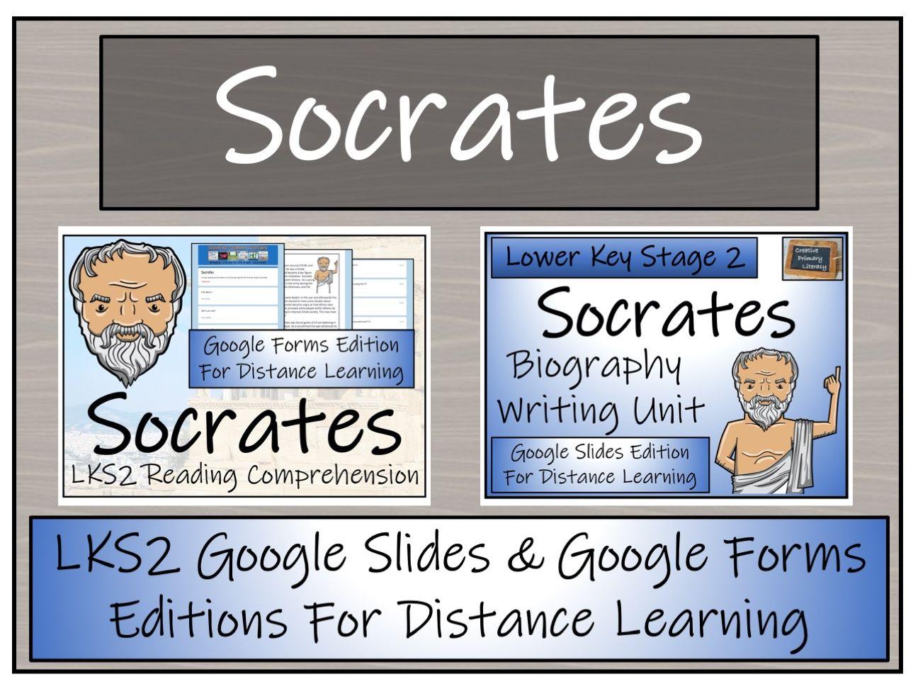 LKS2 Socrates Biography & Reading Comprehension Distance Learning Bundle