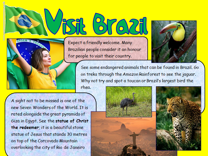 Visit Brazil Persuasive text comprehension