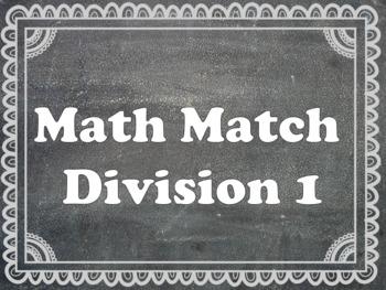 Math Matching Division 2-8 division tables