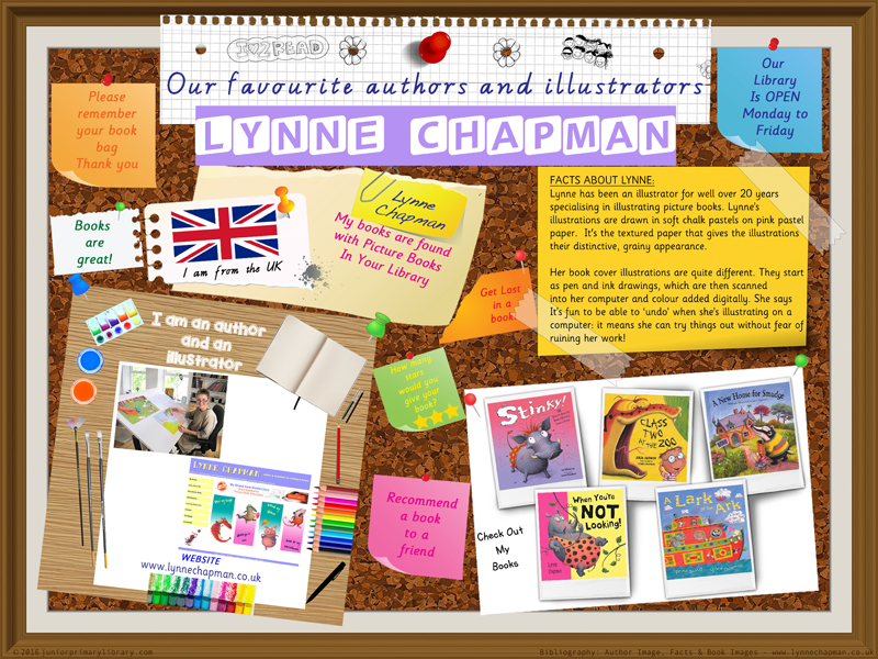 Library Poster - Lynne Chapman UK Author/Illustrator Of Picture Books