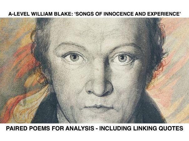 Paired William Blake Comparison Poems