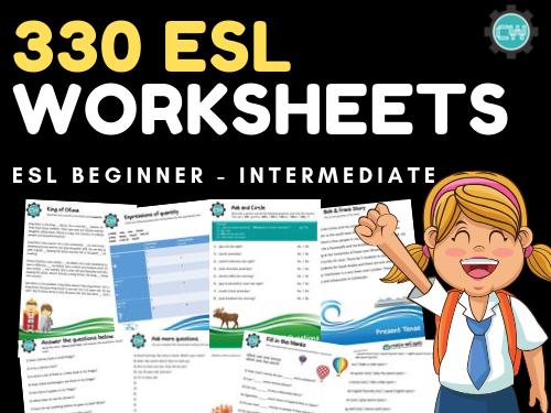 330 ESL Worksheets: Beginners - Intermediate