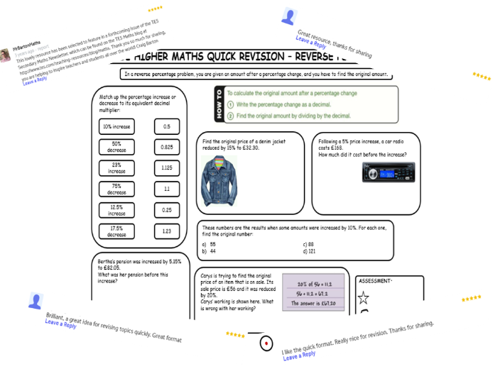 GCSE Maths Revision Mats (Miscellaneous Set 2)