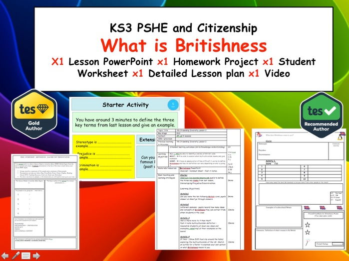 What is Britishness and Diversity? - Fully Lesson of Activities and a Homework KS3
