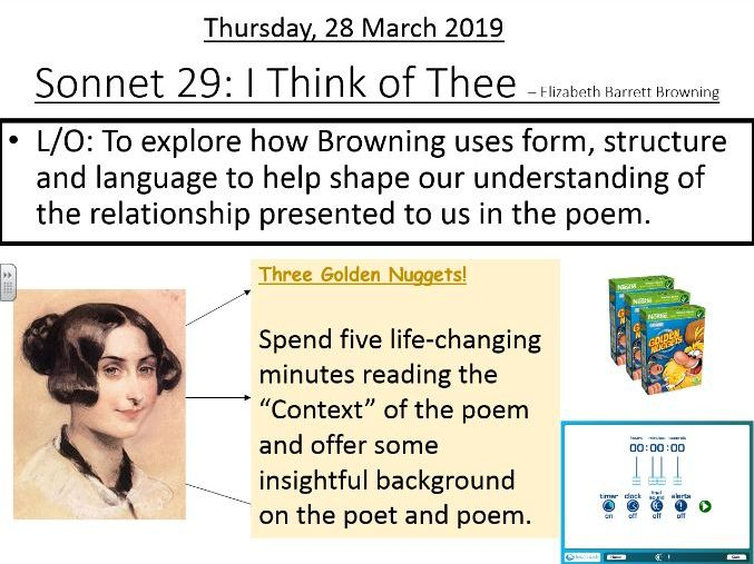 L9 - Sonnet 29: I Think of  Thee