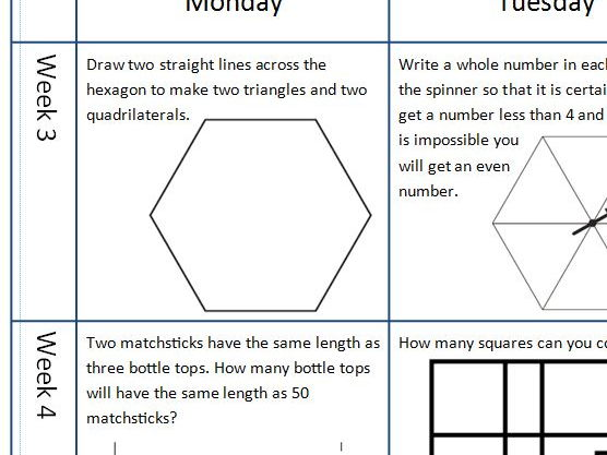 Year 5 and 6 Mathematics Challenges for every day of the Summer Holidays