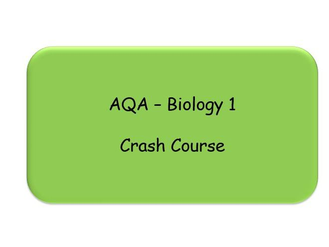 AQA GCSE Biology Crash Course with worksheets - Revision