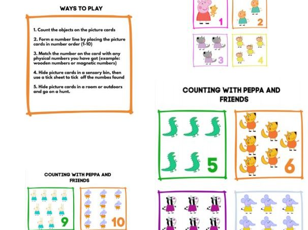 Early years / SEN Counting with Peppa Pig and Friends