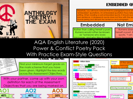 2020 - English Literature Poems Teaching Pack