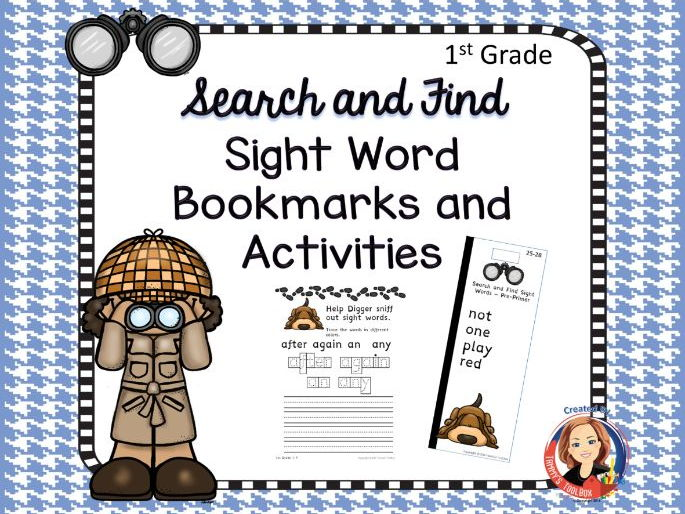 Sight Word Bookmarks and Activity Sheets, 1st Grade Words