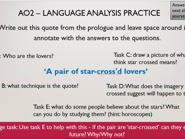 Introduction Lessons to 'Romeo and Juliet'