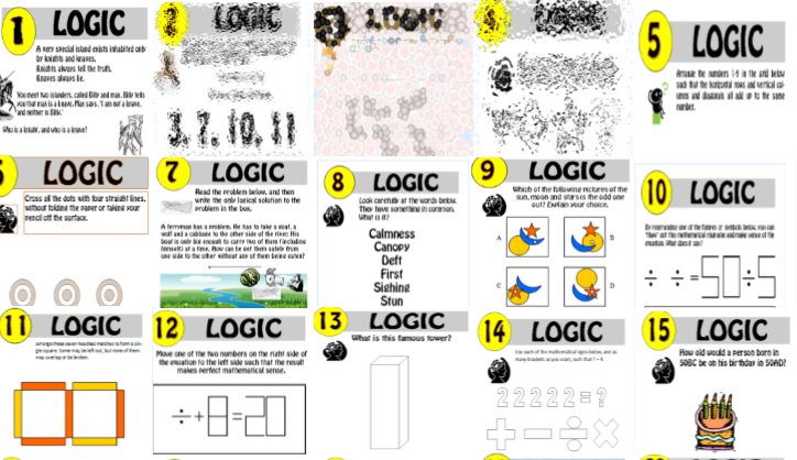 15 resource Logic Puzzle Bundle!! 1-15