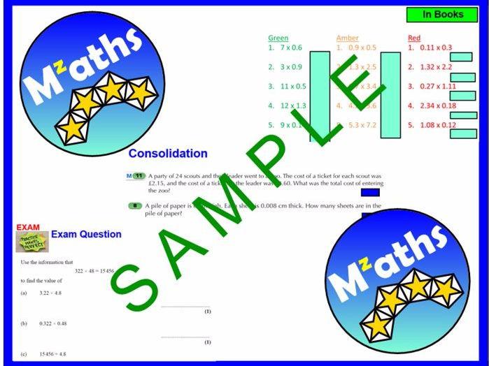 Decimal Division/Multiplication/ Problem Solving/Revision (2 Lessons)