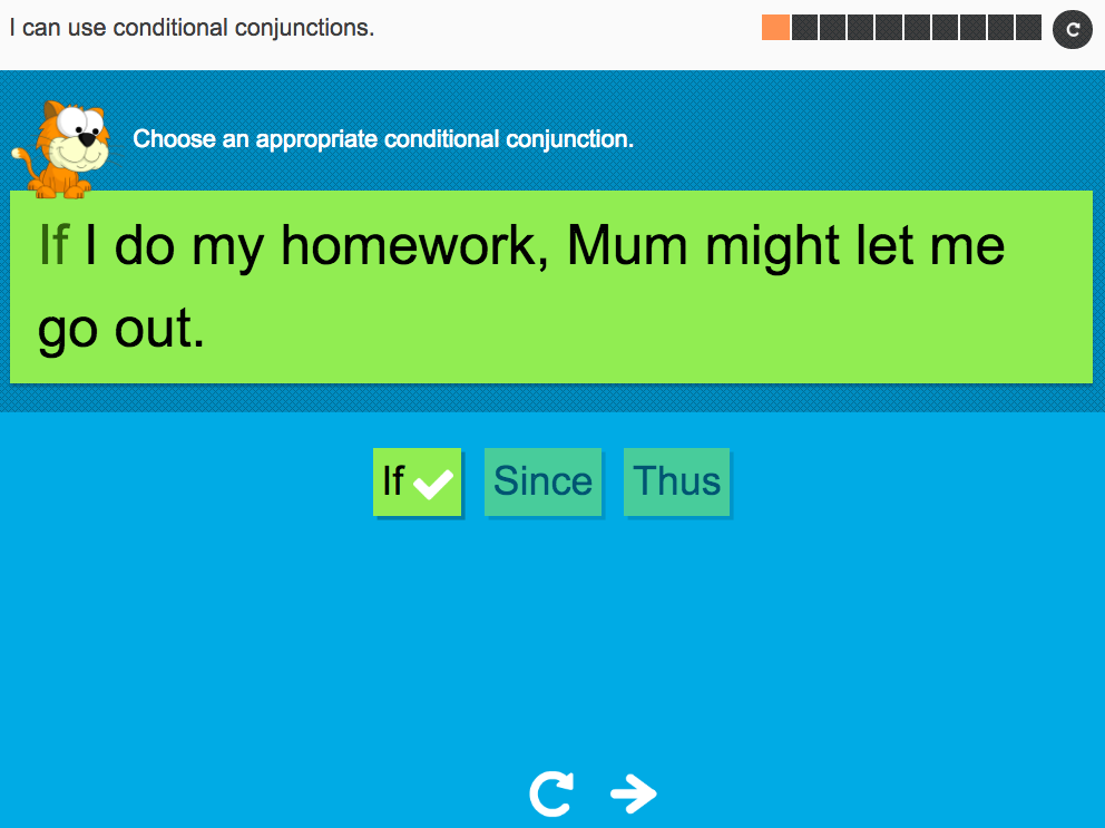 I can use conditional conjunctions - Interactive Activity - Year 5 Spag