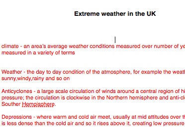 GEOG AQA 9-1 - Extreme weather in the UK