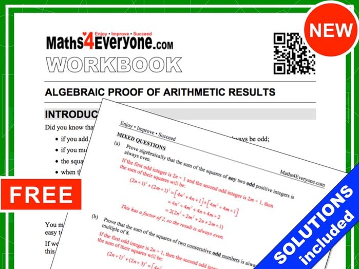 Algebraic Proof (Workbook with Solutions) by Maths4Everyone ...