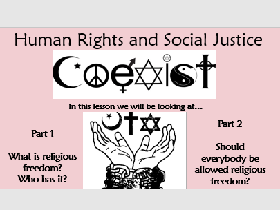 RE GCSE AQA Theme F - Human Rights and Social Justice - L2 Freedom of expression (religious)