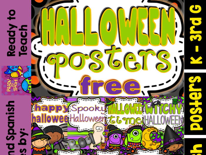 Halloween Gift Posters (FREEBIE) 7 Posters