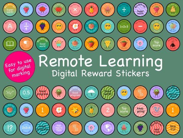 Smiley Digital Reward Stickers KS1 & KS2