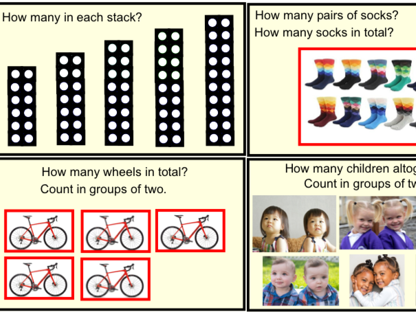 Year 1 Multiplication & Division - Counting in 2's (Smartbook)