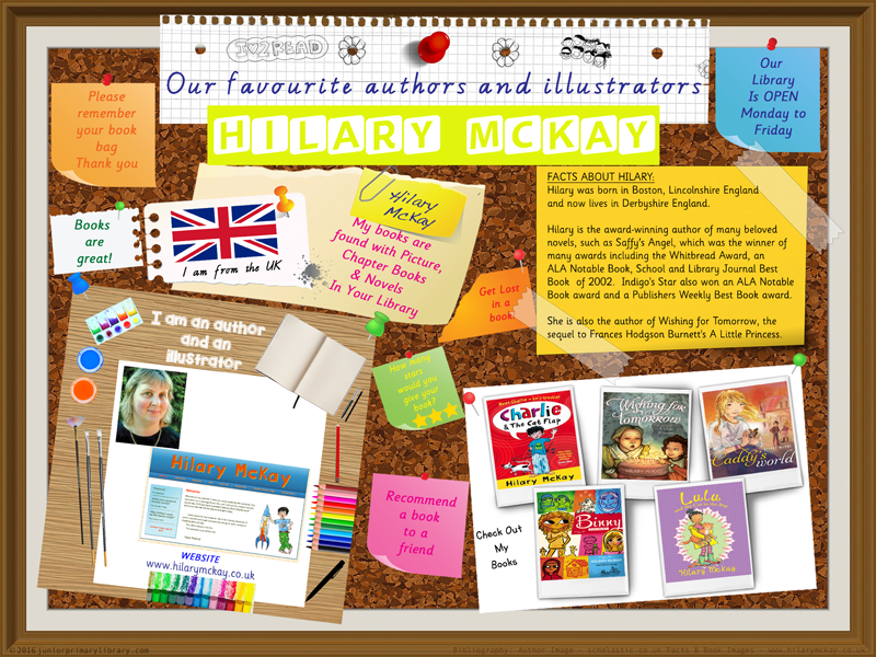 Library Poster - Hilary McKay UK Author Of Picture Books