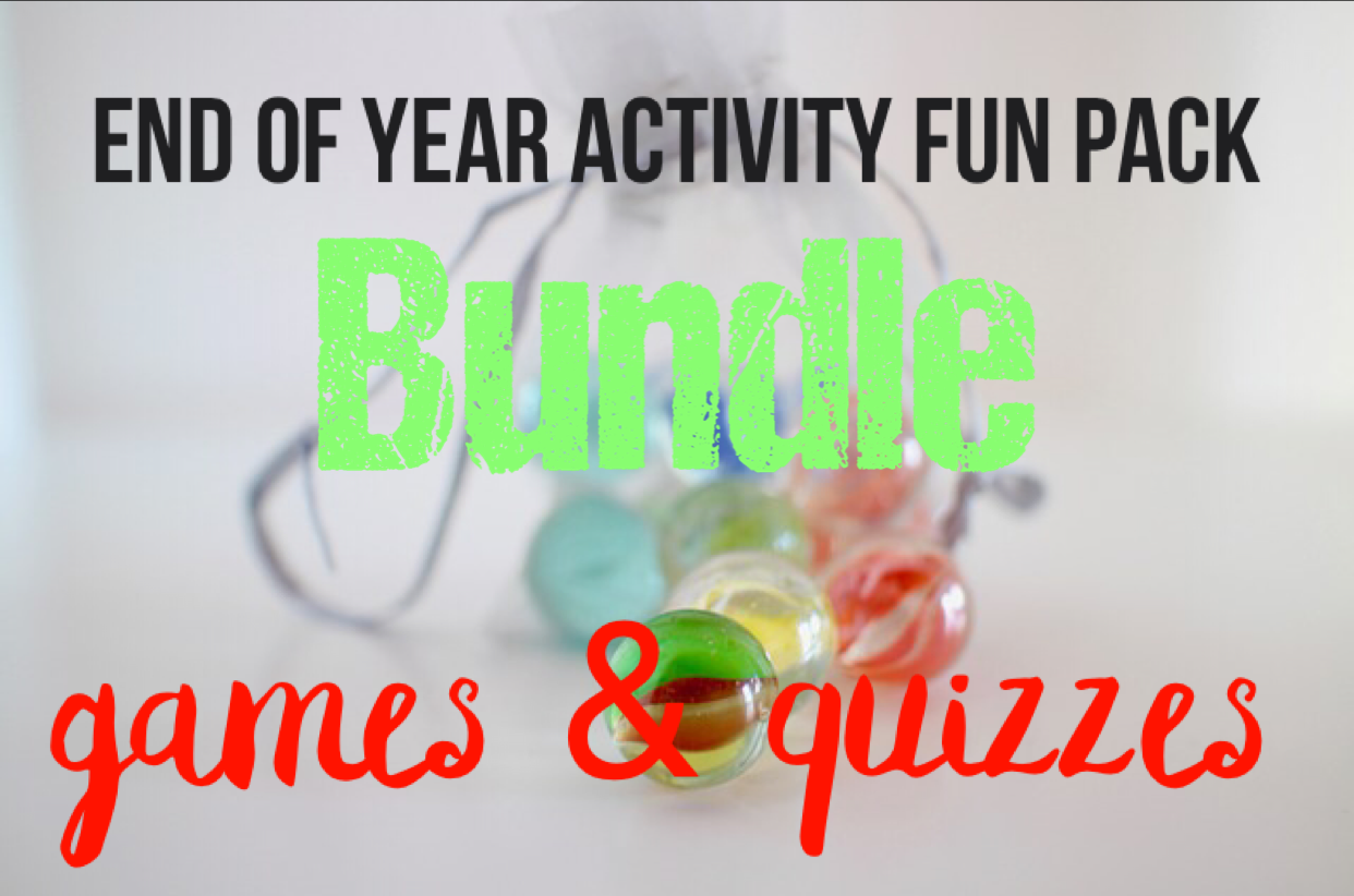 Games and Quizzes - End of Year Bundle