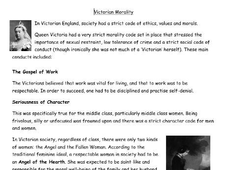 Victorian Morality