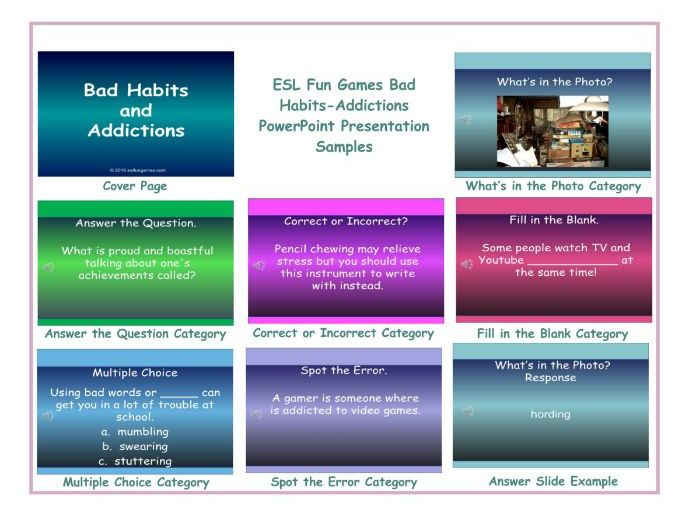 Bad Habits-Addictions PowerPoint Presentation