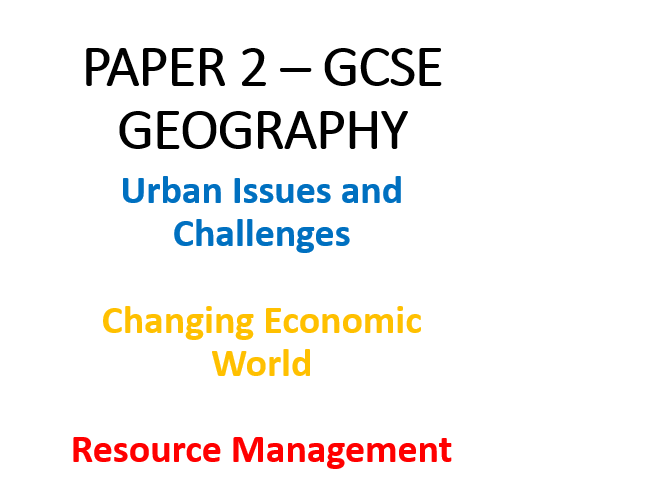 Paper 2 - Revision Workbooks (AQA GCSE Geography)