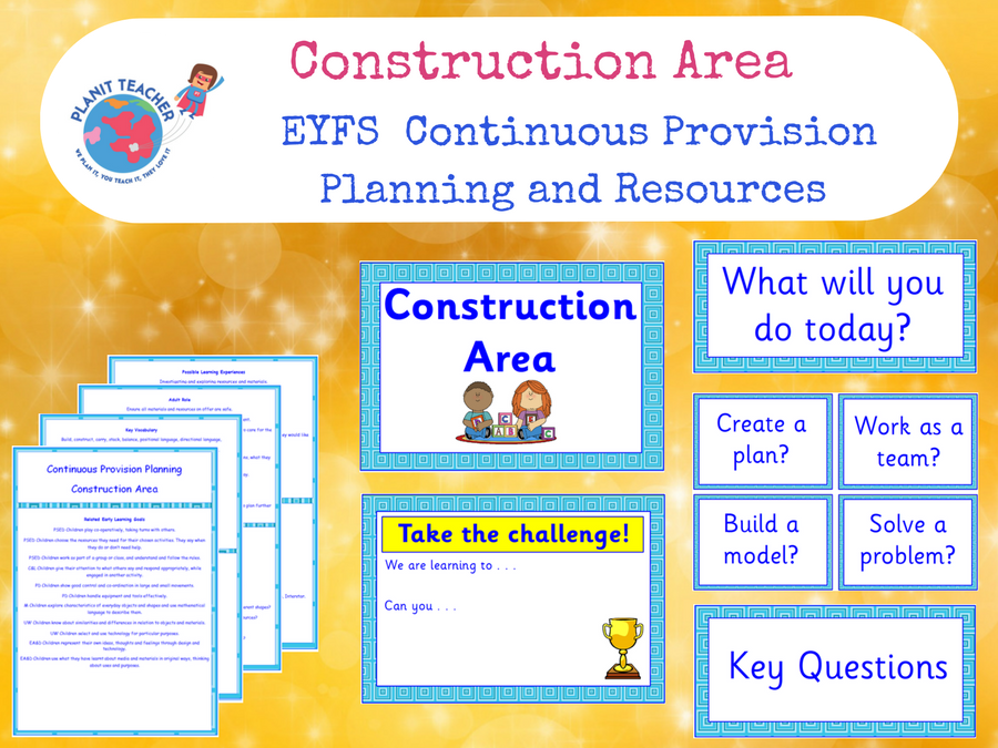 EYFS Construction Area - Continuous Provision Planning and Resources