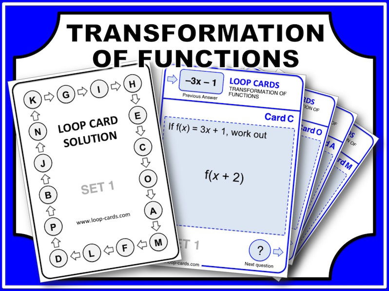 Loop Card Races (Transformation of Functions)