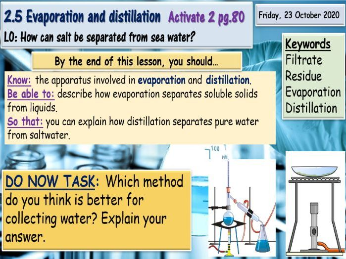 Evaporation and distillation KS3 Science