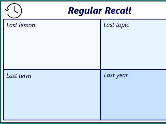 Regular recall starter template