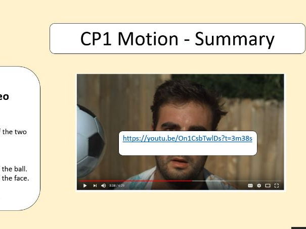 GCSE Physics Motion Revision Lesson