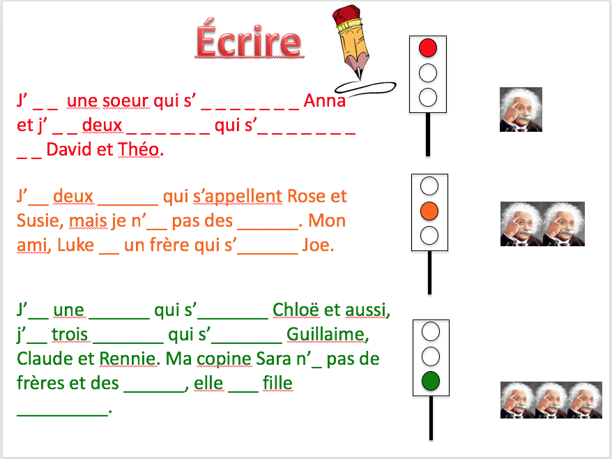 Family, avoir + être - Expo 1 Module 2 - Differentiated lesson
