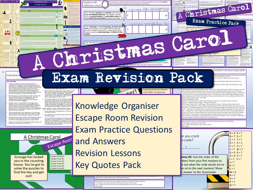 A Christmas Carol GCSE 9-1 Exam Practice Revision