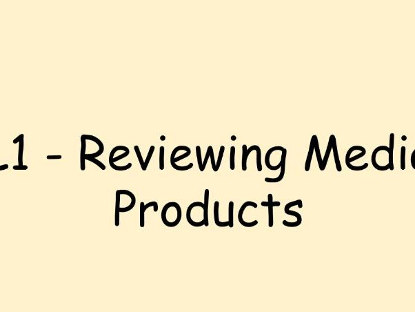 R081 - LO4 - Evaluating/Reviewing Media Products