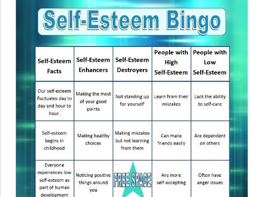 Self-Esteem Bingo