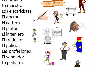 Spanish Professions for KS2 & KS3