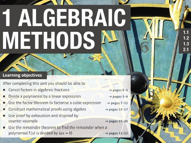 Algebraic methods