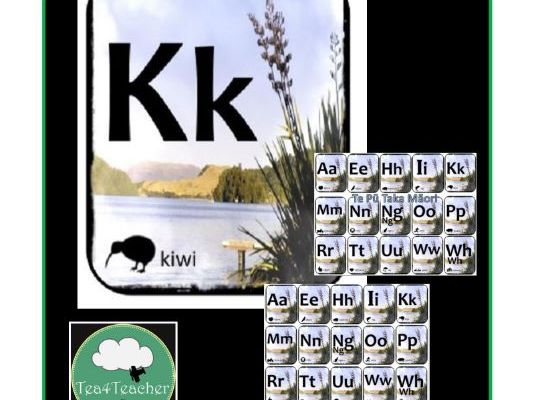 Maori Alphabet Frieze, Flashcards and Poster Beautiful Toi Toi Design Preschool Kindy