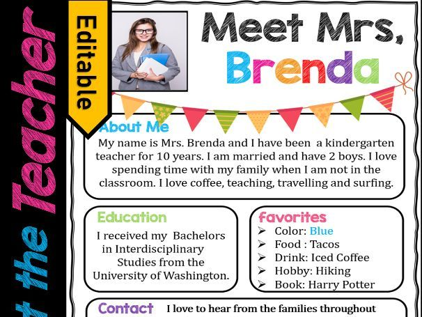 Welcome Letter, Meet the Teacher Template EDITABLE, Supply List | Back to School